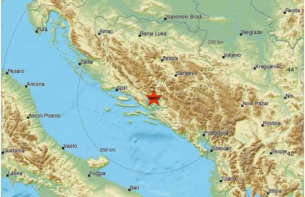 Hercegovinu pogodio 4,0 stepeni jak zemljotres