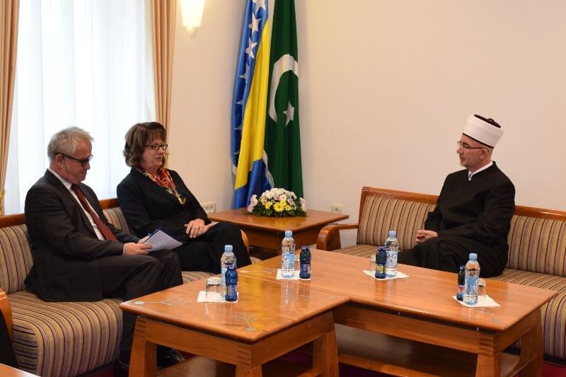 Ambasadorica Cormack posjetila muftiju Fazlovića