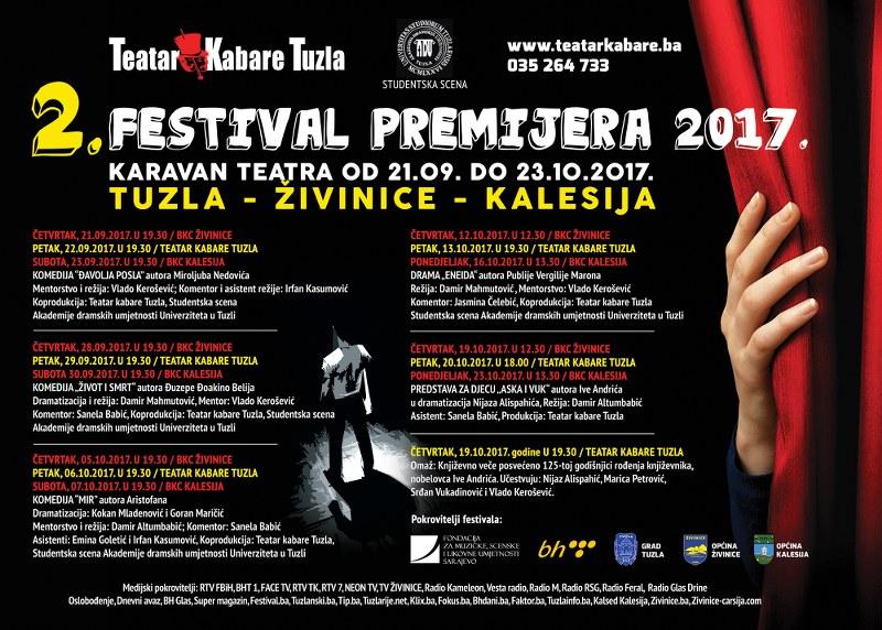 Teatar kabare Tuzla: 2. Festival premijera pod motom Karavan teatra