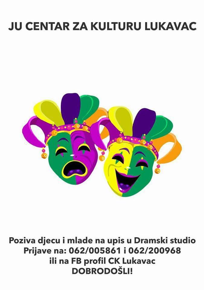 Dramski studio JU Centar za kulturu Lukavac: Besplatan upis za djecu i mlade uzrasta od 8 do 26 godina
