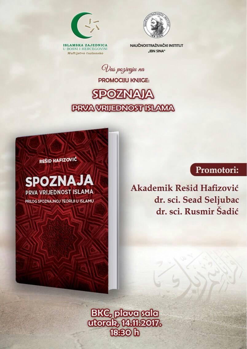 """Najava: Promocija knjige """"Spoznaja – prva vrijednost islama"""""""