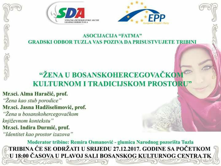 """Najava tribine: """"Žena u bosanskohercegovačkom kulturnom i tradicijskom prostoru"""""""
