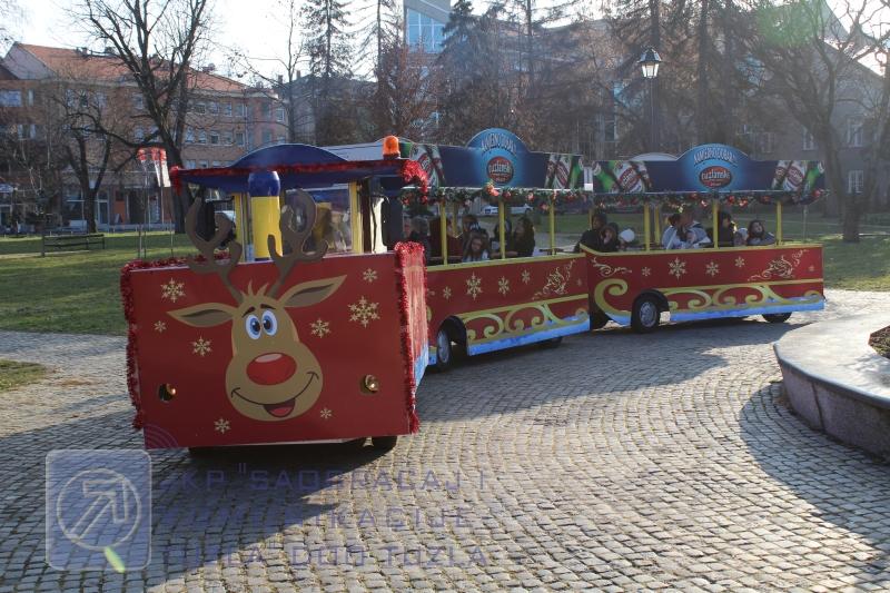Besplatne vožnje: Turistički vozić u novogodišnjem ruhu