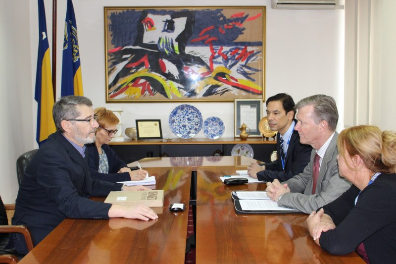 Susret gradonačelnika Tuzle i novog šefa Misije OSCE-a u Bosni i Hercegovini