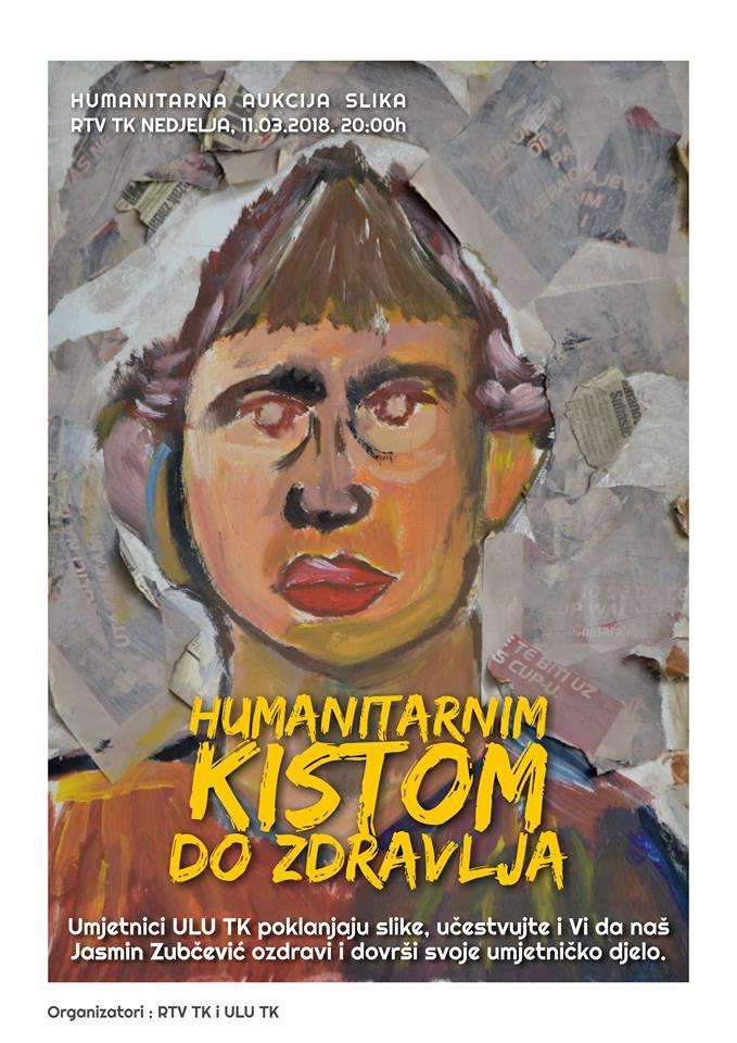 Likovni umjetnici TK u humanoj misiji: Aukcija djela za pomoć oboljelom Jasminu Zubčeviću