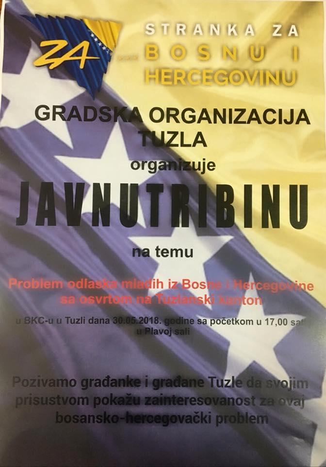 Najava Javne tribine: Problem odlaska mladih iz BiH