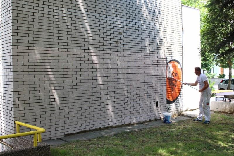 Organizovana zajednička akcija uklanjanja grafita