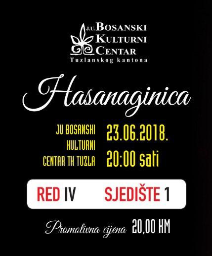 "Opera ""Hasanaginica"" na sceni JU BKC TK 23. juna"