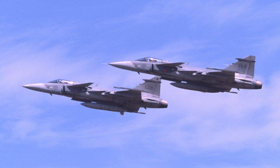 Ptice srušile švedski borbeni avion Gripen, pilot se katapultirao