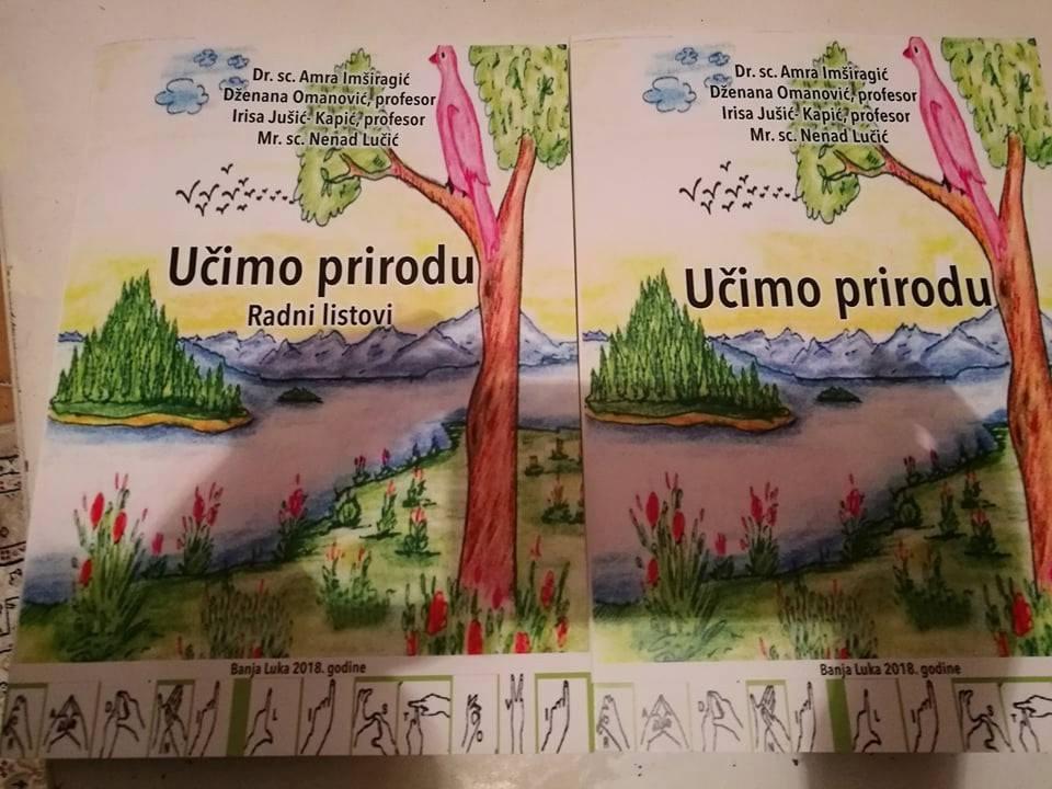 """Najava predstavljanja priručnika i radnih listova: """"Učimo prirodu"""", autora: dr.sc. Amre Imširagić, Dženane Omanović, Irise Jušić i mr.sc.Nenada Lučića"""