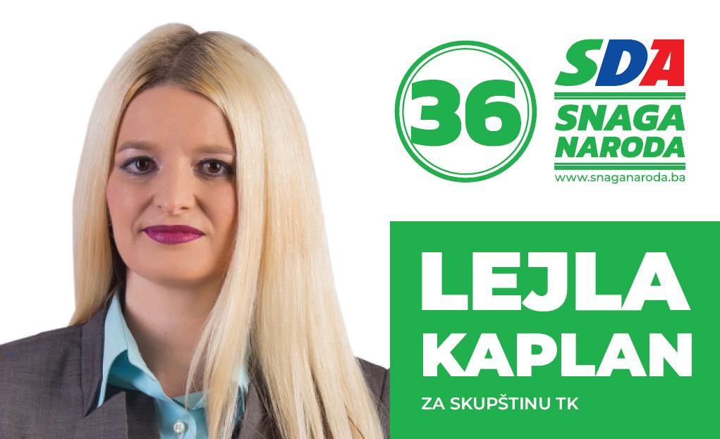 Predstavljamo kandidate: Lejla Kaplan, kandidatkinja SDA za Skupštinu TK