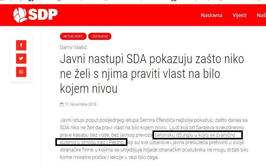 Autogol SDP-ovog junaka Damira Mašića