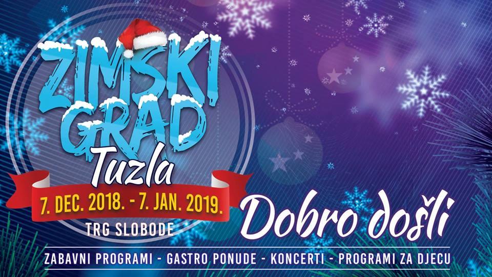 Otvaranje Zimskog grada Tuzla u petak 7. decembar na Trgu slobode