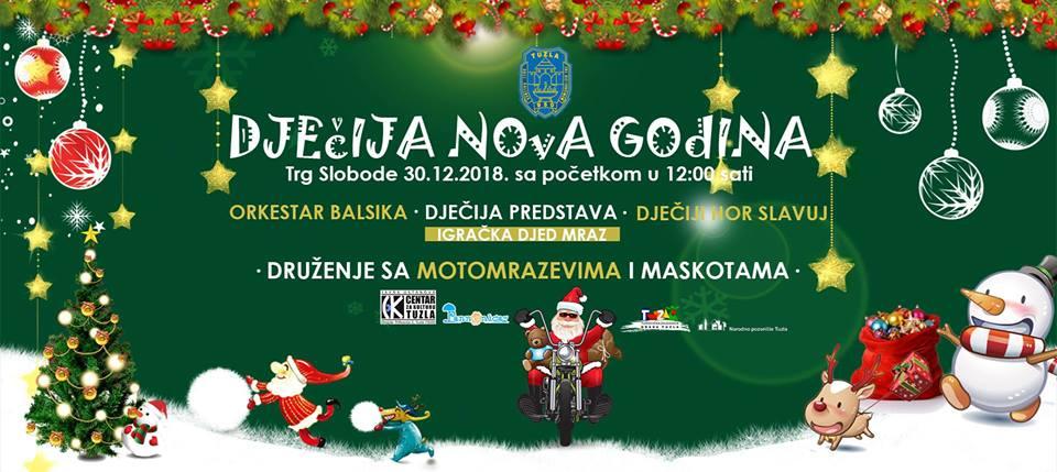 Proslava dječije nove godine naTrgu Slobode u Tuzli