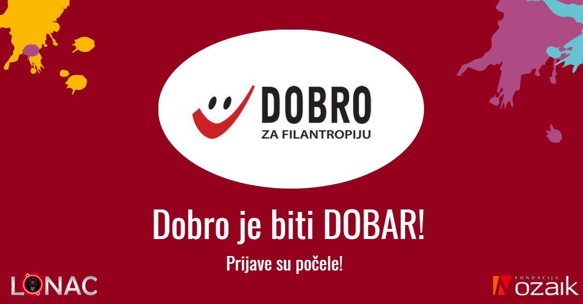 Otvorene nominacije za nagradu DOBRO za filantropiju