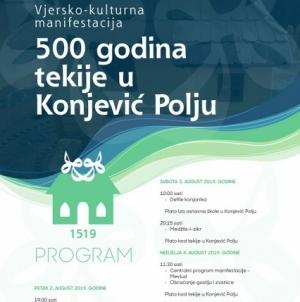 """Najava manifestacije """"500 godina tekije u Konjević Polju"""""""