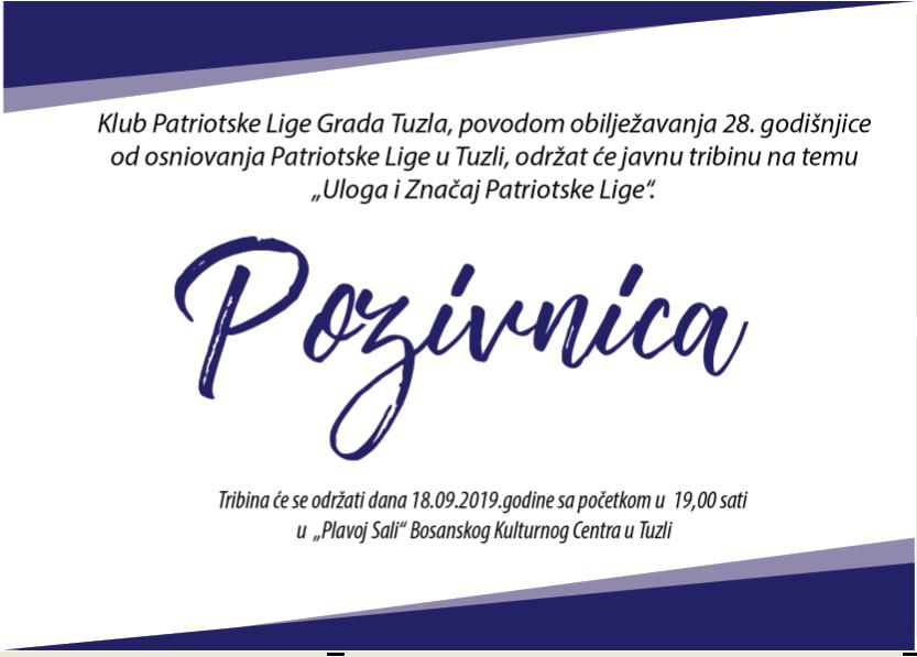 Najava obilježavanja 28. godišnjice od osnivanja Patriotske lige u Tuzli