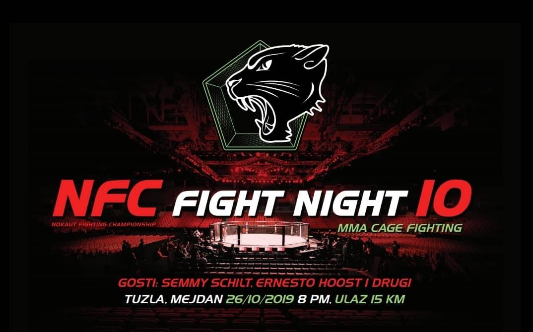 NFC 10:  Noć borbi u kavezima u oktobru u tuzlanskom Mejdanu