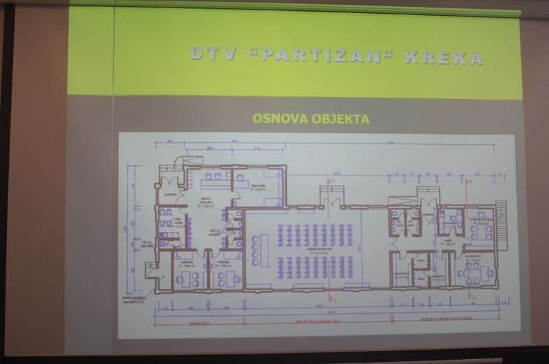 Prezentacija Projekta rekonstrukcije objekta DTV Partizan u naselju Kreka
