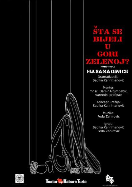 """U petak na sceni Teatra kabare Tuzla biće izvedena predstava """"Šta se bijeli u gori zelenoj"""""""