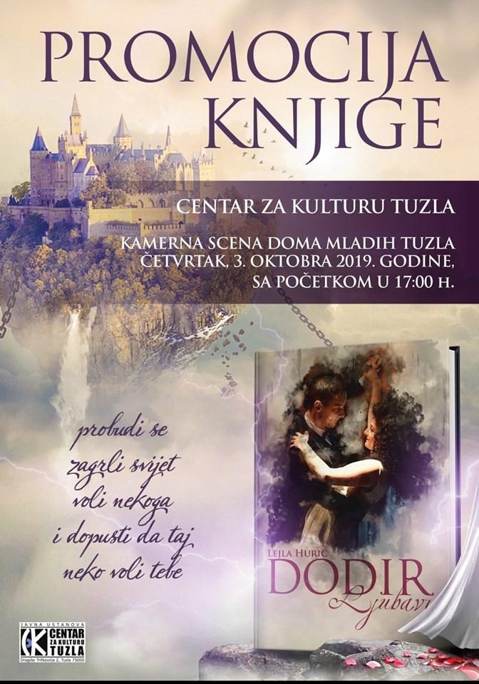 """Najava promocije knjige """"Dodir ljubavi"""", autorice Lejle Hurić"""