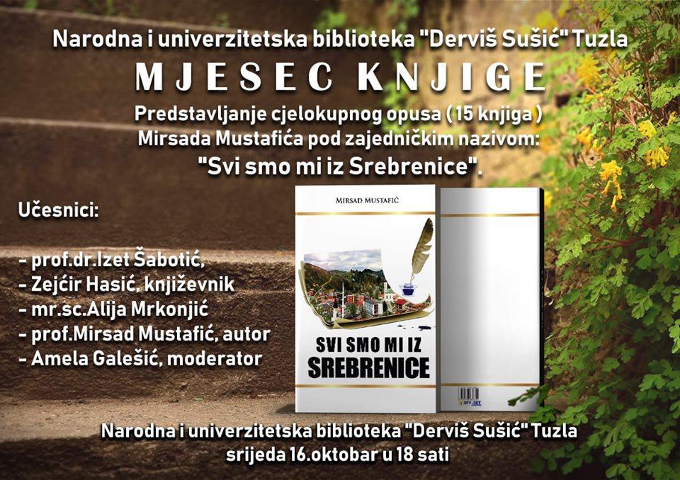 Najava predstavljanja cjelokupnog opusa Mirsada Mustafića