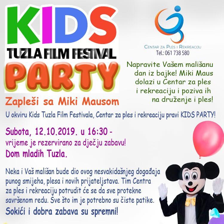 "Kids party u Tuzli: ""Zapleši sa Miki Mausom"""