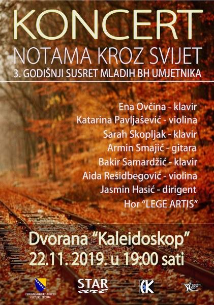 Koncert klasične muzike «Notama kroz svijet» u petak u dvorani Kaleidoskop Tuzli