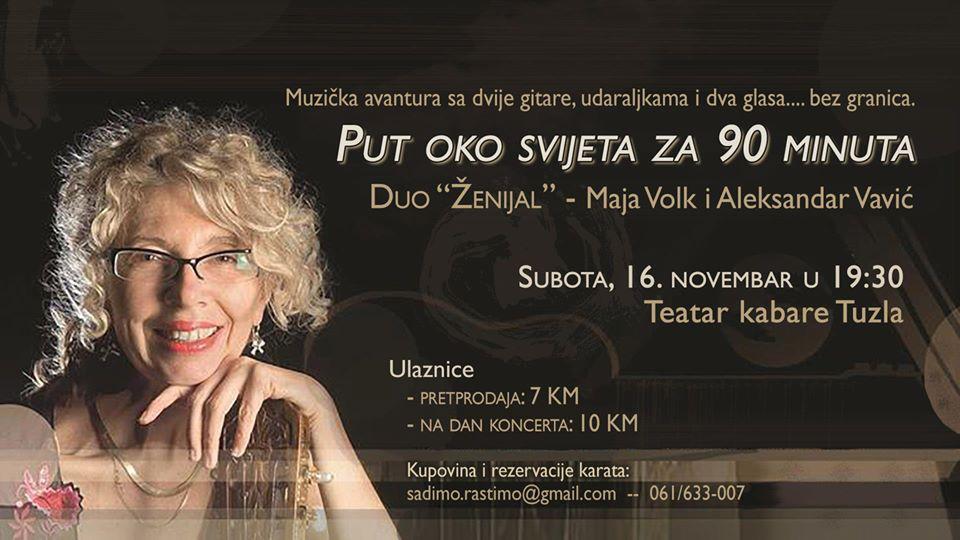 Teatar Kabare Tuzla: Koncert Maje Volk i Aleksandra Vavića – Duo Ženijal