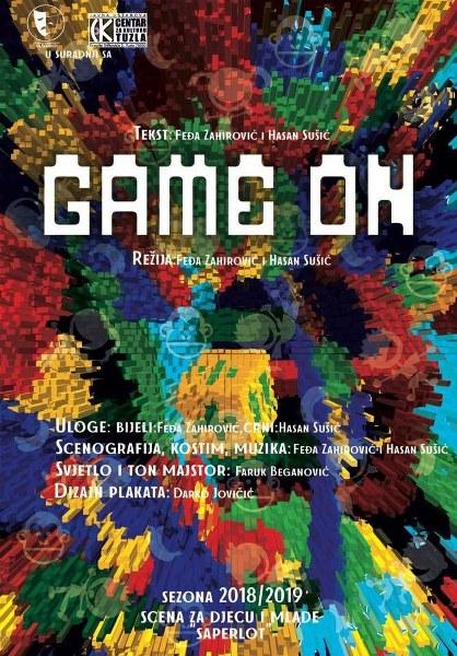 Gostujuća predstava za djecu ''Game on'' u subotu na sceni Teatra kabare Tuzla