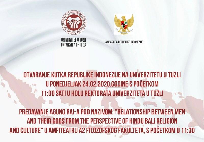 Kutak Republike Indonezije na Univerzitetu u Tuzli