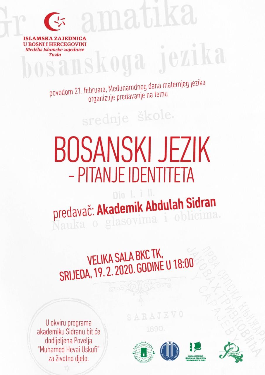 """Predavanje """"Bosanski jezik – pitanje identiteta"""""""
