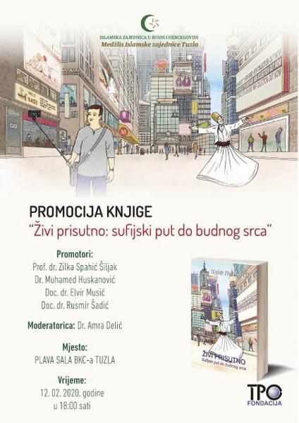 """Najava promocije knjige """"Živi prisutno: sufijski put do budnog srca"""""""