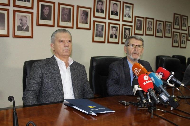 Sastanak ministra sigurnosti BiH Fahrudina Radončića i gradonačelnika Tuzle Jasmina Imamovića