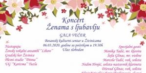 "Gala koncert ""Ženama s ljubavlju"" večeras u BKC-u Živinice"