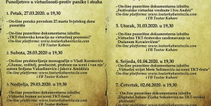 "XVIII TKT ON-LINE FEST 20-20: ""TKT-festovska kreacija na virtuelnoj pozornici"""