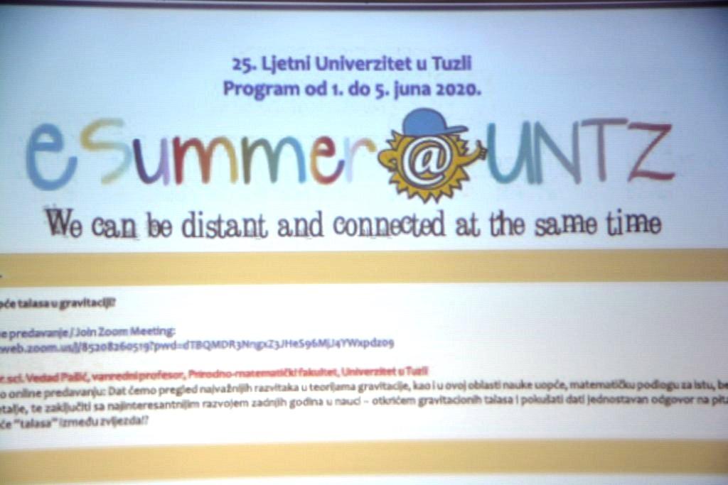 """Ljetni univerzitet u Tuzli   putem online """"zoom"""" aplikacije"""