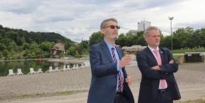 Sastanak ambasadora Johanna Sattlera i gradonačelnika Imamovića