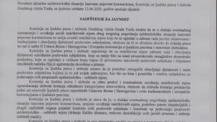 Saopštenje za javnost Komisije za ljudska prava i slobode Gradskog vijeća Tuzla