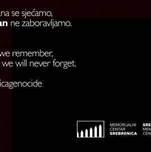 11. jula u 12 sati na zvuk sirene zastanite i odajte počast žrtvama genocida u Srebrenici
