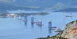Pelješki most – dvije godine gradnje, obavljeno 50 posto posla