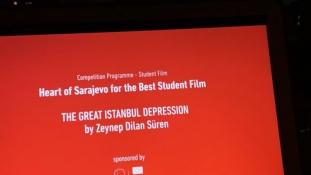 Zeynep Dilan Süren za film Velika istanbulska depresija dobitnica Srca Sarajeva