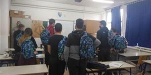 Ruksaci i školski pribor za učenike Rudarske škole