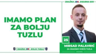 Mirsad Palavrić, kandidat SDA Tuzla za Gradsko vijeće: Imamo Plan za bolju Tuzlu!
