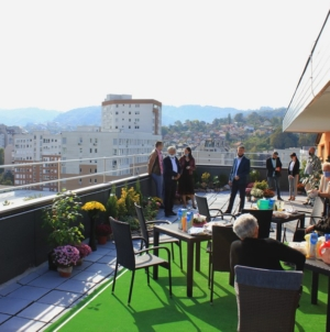 Zelena bašta na krovu zgrade u Tuzli