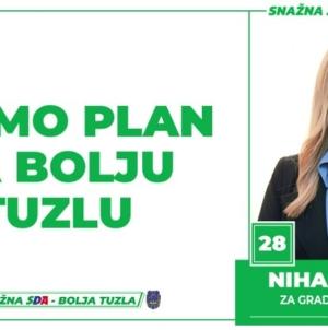 Nihada Hurić, kandidat SDA Tuzla za Gradsko vijeće: Imamo Plan za bolju Tuzlu!