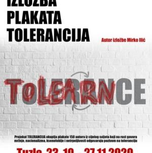 "U Tuzli postavljena izložba plakata ""Tolerancija"", autora Mirka Ilića"