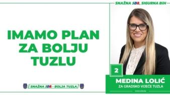 Medina Lolić, kandidatkinja SDA Tuzla za Gradsko vijeće: Imamo Plan za bolju Tuzlu!