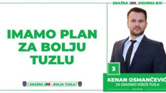Kenan Osmančević, kandidat SDA Tuzla za Gradsko vijeće: Imamo Plan za bolju Tuzlu!
