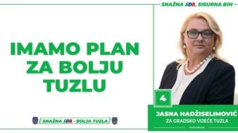 Jasna Hadžiselimović, kandidatkinja SDA Tuzla za Gradsko vijeće: Imamo Plan za bolju Tuzlu!